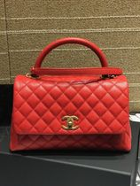 憧れの一点★2019CHANEL★Coco Handle QUILTED small in RED