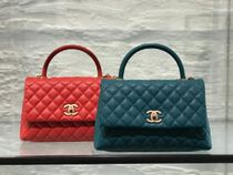 憧れの一点★2019CHANEL★Coco Handle QUILTED small in green