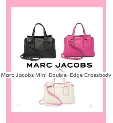 セール!Marc Jacobs Mini Double-Edge Crossbody レザー★