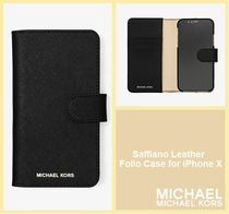 【セール/国内完売】Saffiano Leather Folio Case for iPhone X