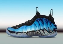 "【2016年 NIKE】AIR FOAMPOSITE ONE ""Blue Mirror"" 575420-008"