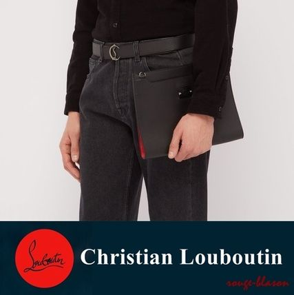 221d9fd9ea Christian Louboutin クラッチバッグ 【国内発送】ルブタン Skypouch Loubicity leather pouch bag  ...