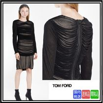 超大特価★送料関税込★TOM FORD★WOMEN'S BLACK DRAPED DRESS