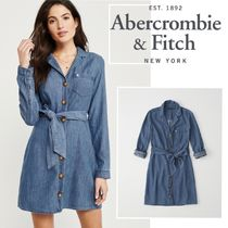 Abercrombie&Fitch*国内発送(追跡有)送関込*iconシャツワンピ