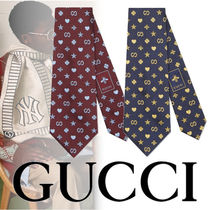 18/19AW GUCCI シンボルズモチーフ シルク ネクタイ 2色