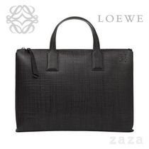 LOEWE★ロエベ Goya Simple Briefcase Black