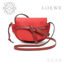 LOEWE★ロエベ Mini Gate Bag Scarlet Red/Burnt Red