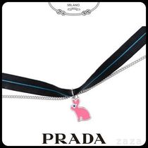 PRADAプラダ 1JC389 SILVER NECKLACE WITH CHARM