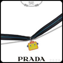 PRADAプラダ 1JC393 SILVER NECKLACE WITH CHARM