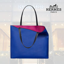 【19SS】HERMES Sac Double Sens 45 touch rose pourpre