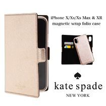 KATE SPADE iPhone X/Xs/Xs Max & XR magnetic wrap folio case