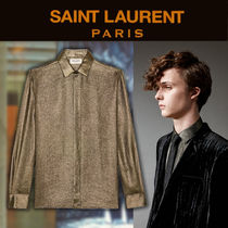【19SS NEW】 Saint Laurent_men/ CAMICIA CON COLLO YVES gold