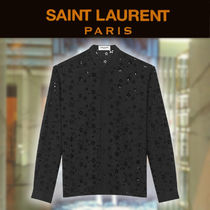 【19SS NEW】 Saint Laurent_men/WOOL MUSLIN STAR EMBROIDERY