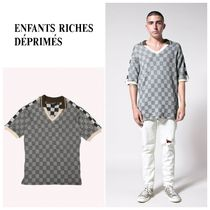 ENFANTS RICHES DEPRIMES(アンファンリッシュ) ポロシャツ 【ENFANTS RICHES DEPRIMES】大人気☆Checkerboard V-Neck Polo