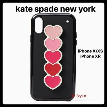 kate spade new york スマホケース・テックアクセサリー Kate spade★最新作★Ombre HeartオンブレハートiPhone X/XS, XR