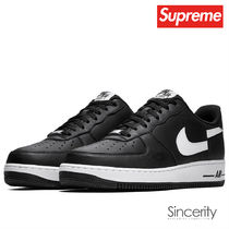 SUPREME AR7623-001 CDG/NIKE AIR FORCE 1 LOW / BLACK / 10.0