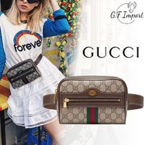 【VIP SALE!!】GUCCI☆Ophidia ロゴ付き ウエストバッグ