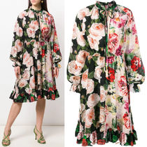 19SS DG1892 FLORAL PRINT SILK DRESS