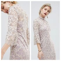 【送料無料】ASOS/Paper Dolls soft lace high neck dress