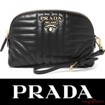 【国内発送】PRADA Quilted leather cosmetics case
