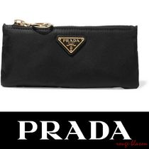 【国内発送】PRADA Leather-trimmed shell cosmetics case