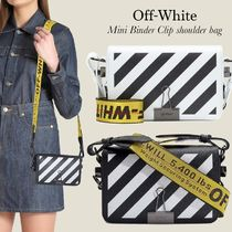 Off-White(オフホワイト) ショルダーバッグ・ポシェット Off-White Mini Binder Clip leather shoulder bag