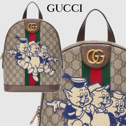 competitive price e9716 2a9a3 新作【GUCCI】Ophidia 三匹の子ぶた GG バックパック 送料込み