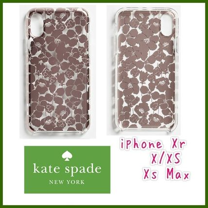kate spade 新作★国内発送 フローレットクリア iPhoneケース