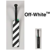 Off-White(オフホワイト) ラゲッジタグ OFF WHITE DIAG TRAVEL TAG BLACK WHITE 国内発