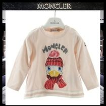 【MONCLER】プリントロングTシャツ 3M 6M 9M PINK/追跡付
