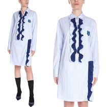 PR1634 RUFFLED COTTON SHIRT DRESS