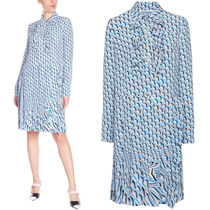 PR1636 TWIST MOTIF PRINT SHIRT DRESS