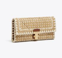 Tory Burch JULIETTE RATTAN CLUTCH