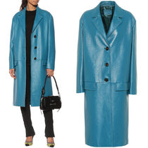PR1648 LAMB LEATHER SINGLE BREASTED COAT