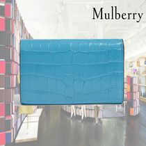 【19SS】★Mulberry★Croc-embossed Continental wallet
