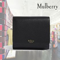 【19SS】Mulberry★Grained leather continental wallet/Black