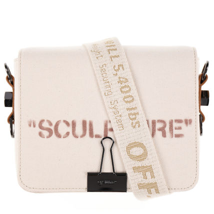 SALE! 限定! Off-White(オフホワイト)SCULPTURE CANVAS FLAP BAG