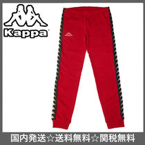 国内発送!【Kappa】222 BANDA AVIOL SLIM PANTS / RED