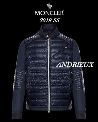 2019SS【MONCLER】撥水加工♪ロゴ入りバイカーダウン☆ANDRIEUX