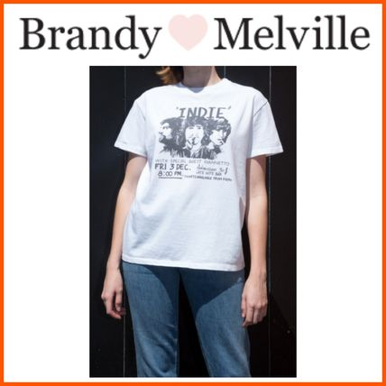 Brandy Melville Tシャツ・カットソー 新作!!☆Brandy Melville☆Marina Indie Band Top