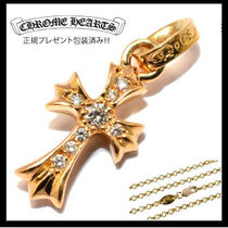 Chrome Hearts/BABY FAT 22Kダイヤ18チェーン/正規店ラッピング