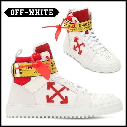 Off-White(オフホワイト)INDUSTRIAL LEATHER HIGH TOPスニーカー
