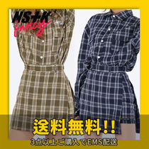 ★NASTYKICK★ FANCY CHECK WRAP SKIRT_NF18A080H