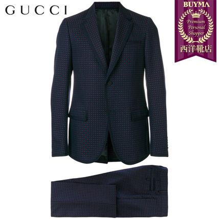 GUCCI スーツ 【正規品保証】GUCCI★19春夏★MICRO PRINT TWO PIECE SUIT
