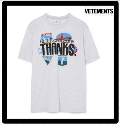 セール限定VETEMENTSヴェトモンPrinted cotton-jersey T-shirt