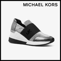 MICHAEL KORS Felix Metallic Mesh and Leather スニーカー