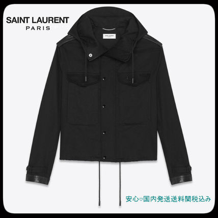 19'SS New!! Saint Laurent◆SHORT PARKA IN COTTON GABARDINE
