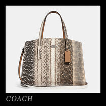 COACH☆Charlie Carryall Ombre スネークスキン 41381