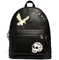 ブラック☆COACH☆WEST BACKPACK  WITH EAGLE MOTIF