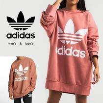 【adidas originals】TREFOIL・BIG CREW NECK SWEAT・PINK